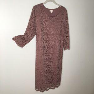 Garnet Hill Lace Dress EUC